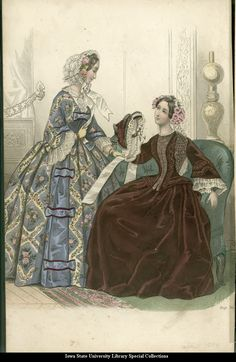 Fashion plate, 1854, the Lady's Companion