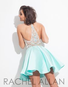 Rachel Allan 4044 Mint Homecoming Dress