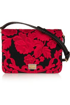 DOLCE & GABBANA Ayers-paneled embroidered satin shoulder bag  $1,867.32 http://www.net-a-porter.com/products/543395