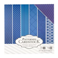 """Core'dinations 12"""" x 12"""" Patterned Cardstock 60 Pack - Dark Blue"""