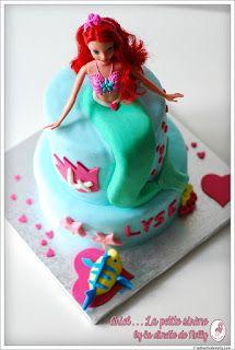 Ariel la petite sirène demi princesse comestible stand up Tranche Gâteau Toppers Disney