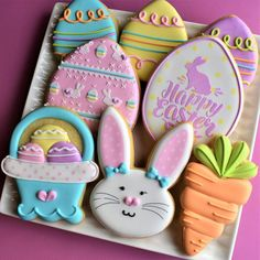 Flour Box Bakery has hand-iced decorated cookie gifts and favors, how-to cookie decorating video tutorials, and professional and affordable decorating supplies. Baby Cookies, Cute Cookies, Easter Cookies, Sugar Cookies, Easter Cake, Heart Cookies, Valentine Cookies, Birthday Cookies, Christmas Cookies