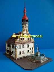 Online Shop [Alice papermodel]Fountain house scene structure diorama sandbox Residential dwelling flat tenement building models|Aliexpress M...