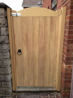 Quality Hardwood Wooden Gates for sale UK - Mitech Joinery LTD Wooden Garden Gate, Wooden Gates, Garden Doors, Garden Fencing, Backyard Gates, Driveway Gate, Side Gates, Entrance Gates, Building A Fence Gate