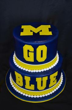 University of Michigan cake made by Gracie Moonpie & Co.                                                                                                                                                                                 More