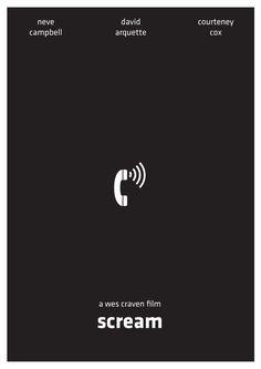 Scream (1996) ~ Minimal Movie Poster by Arden Avett