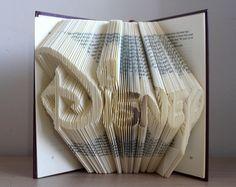 Disney - Folded Book Art - Book Sculpture - Disney Gift - Mickey Lover - Disney…