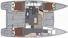 fp-helia-44-evolution-maestro-layout - Fountaine Pajot Helia 44 Evolution Catamaran