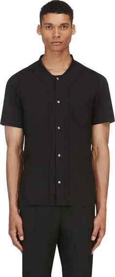 Sasquatchfabrix - Black Baseball Shirt | SSENSE