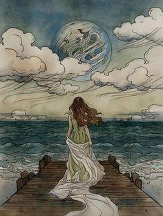 Tolkien, Art Bizarre, Images Esthétiques, Love Images, Fairytale Art, Fairytale Drawings, Aesthetic Art, Aesthetic Women, Aesthetic Pictures