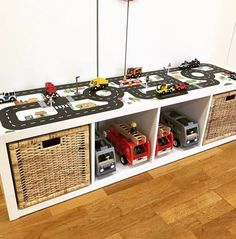 The KALLAX shelf is a real asset for the child ❤️ Das KALLAX Regal ist eine echte Bereicherung für den Kindergarten. Es is… ❤️ The KALLAX shelf is a real asset to kindergarten. It is … – Children& room Small Playroom, Toddler Playroom, Playroom Design, Toddler Boy Room Ideas, Boys Room Ideas, Boy Toddler Bedroom, Small Childrens Bedroom Ideas, Car Bedroom Ideas For Boys, Boys Space Bedroom