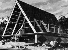 """1964 Modern Vacation Home from the book """"How to Build Your Cabin or Modern Vacation Home"""" by Harry Walton"""