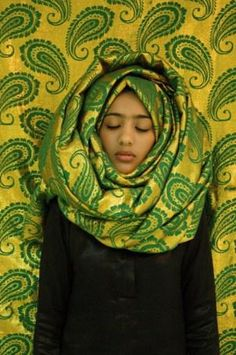 Green | IMOW Muslima   Green     Waheeda Mullulah (Bahrain)  In this project I was experimenting with the idea of being covered in different ways, without knowing that I started to remove my hijab! Although I tried, only in my Art!!