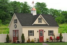 This lovely 14x24 two-story shed barn will be an amazing addition to any property with the space to place it. It comes with a full stairway with a railing and a beautiful eyebrow dormer. Check out the two-story barns and garages from Sheds Unlimited in PA. Call 717-442-3281 or email us at office@shedsunlimited.net