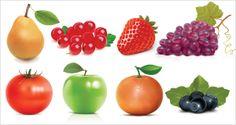 Fiches de Nomenclature : Les Fruits Communs. Flash Cards : Commons Fruits.