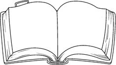 Clipart Library Open Book Vector Clipart Free To Use Clip Art Resource Clip Art Black And White Books, Clipart Black And White, Bible Coloring Pages, Coloring Books, Open Book Drawing, Book Clip Art, Open Bible, Book Outline, Bible Crafts For Kids