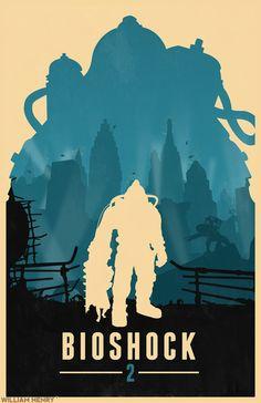 Bioshock 2 - Poster by William Henry(Billpyle) Deviant Art-Website-Tumblr-Twitter-Facebook-Etsy