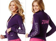 "ZUMBA INSTRUCTOR ""Zin"" Hoodie Jersey Cardigan Jumper Jacket ~Purple RARE!! S M L #ZumbaFitness #HoodieJacketJumperSweatsPantsTracksuit"