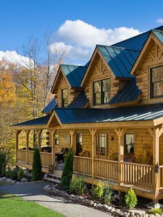 Coventry Log Homes Love that front porch