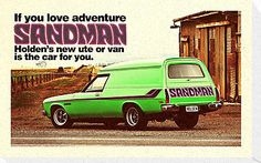 'Holden Sandman Panel Van - Nostalgic ©' Poster by BlulimeMerch Australian Muscle Cars, Aussie Muscle Cars, Hq Holden, Holden Australia, Automobile, Best Classic Cars, Car Advertising, Vintage Motorcycles, Signs
