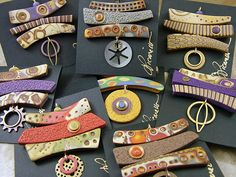 Julie Picarello - polymer clay pendants.  Lovely in so many ways.