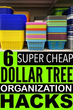 Easy and cheap dollar store organization hacks that you can use to organize your home with! You have to try these organization ideas. Dollar Store Bins, Dollar Store Hacks, Dollar Store Crafts, Dollar Stores, Dollar Tree Organization, Household Organization, Craft Organization, Organizing Your Home, Organizing Ideas