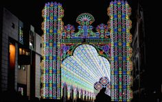 The incredible cathedral of color: Extraordinary display created by 55,000 LED lights.