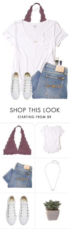 """""""Sorry that I wasn't on...."""" by kolbee24 ❤ liked on Polyvore featuring beauty, Hollister Co., Nudie Jeans Co., Kendra Scott, Converse and Kate Spade"""