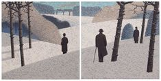 Catto Gallery   Mark Edwards Solo Exhibition 2016   Three Men, Three Trains Michael Morpurgo, Snowy Forest, New York Street, The Real World, Men Looks, Westminster, Figurative Art, Surrealism, The Dreamers