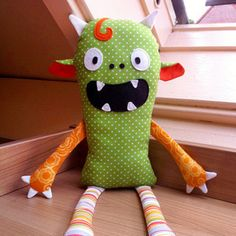 Download Monster rag doll Sewing Pattern   Baby   YouCanMakeThis.com