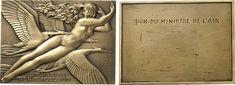NumisBids: International Coin Exchange Ltd Auction VII, Lot 587 : AVIATION. Aviation. Bronze Plaque by R. Delamarre, Paris, 1930....