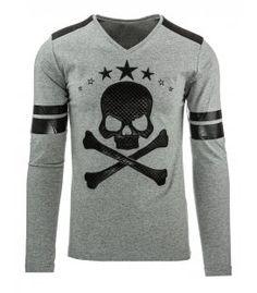 Antracitové tričko s dlhým rukávom