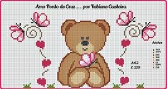 Cross Stitch For Kids, Cross Stitch Boards, Cross Stitch Love, Cross Stitch Patterns, Afghan Crochet Patterns, Baby Kind, Cross Stitching, Crochet Baby, Needlework