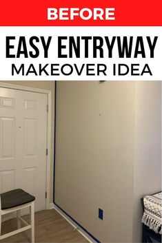 Are you decorating on a budget? check out the before and after front entrance transformation with these simple items and some paint. #diy #entryway #makeover