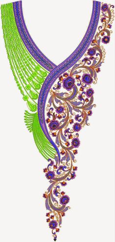 Pakistani Dress Embroidery Lovely Neck Designs ~ Embdesigntube