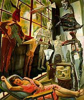 The Painter's Studio, Estudio del pintor - Diego Rivera