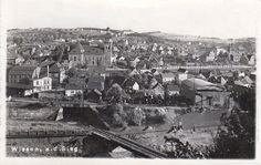 035 - die Trassen zur Hütte und nach Katzwinkel ca. 1940 - im Hintergrund das Gymnasium