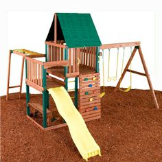 Swing-n-slide Chesapeake Ready-to-assemble Kit Residential Wood Playset With…