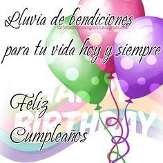 Spanish Birthday Wishes, Happy Birthday Clip Art, Happy Birthday Notes, Birthday Qoutes, Happy Birthday Wishes Cards, Happy Birthday Celebration, Happy Belated Birthday, Vintage Birthday Cards, Happy Birthday Images