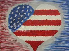 Family Day!- Patriotic Heart - Sherman, TX Painting Class - Painting with a Twist
