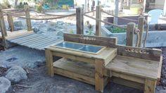 Mud Kitchen in natural playground.
