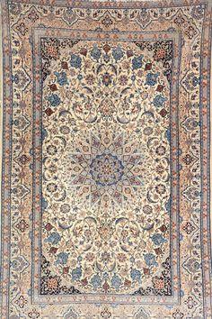 NAIN LA), Persia, circa 30 years old, wool/part-silk/cotton, approx. 248 x 158 cm Henrys Auktionshaus AG Best Carpet, Diy Carpet, Modern Carpet, Rugs On Carpet, Persian Carpet, Persian Rug, Silver Carpet, Oriental, Carpet Stairs