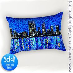 Sold!! 😃 ..thanks to the recent buyer of this 'Perth Evening Blues' rectangular-pillow design from my Society6 webshop (follow link in my bio.) . . . #handpaintedart #uniquegifts #aussie #art #s6living #pertheveningblues #perth #artist #pillows #arte #artcollection #artcollectors #society6 #homedecor #skyline #interiordesign #loveperth #shareyoursociety6 #houseandhome