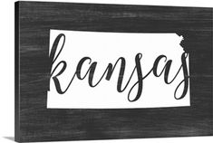 Chalkboard Art - Home State Typography - Kansas wall art by Inner Circle from Great BIG Canvas. Wall Art Prints, Framed Prints, Canvas Prints, State Outline, Chalkboard Art, Retro Toys, State Art, Contemporary Paintings, Kansas