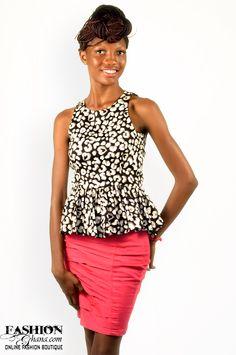Ekwiaba Colors Cheater Print Top - FashionGHANA.com (100% African Fashion)