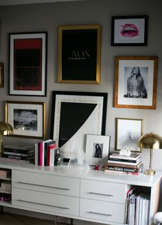Gallery wall & console table