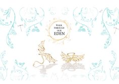 COLLECTION - EDEN Meet Eden's two lace Angels Angelo & Devolo With their lace golden wings, Angelo is your little protector, while Devolo is your delicate tempter. Brooch, Gold Plated Sterling Silver, Handcrafted Filigree