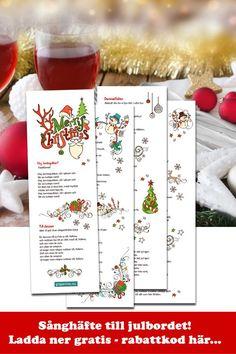 Gratis Sånghäfte till Jul. Roliga snapsvisor till Julbordet. Skriv ut direkt Enkelt för dig, roligt för dina gäster. #sånghäfte #julbord #snapsvisor