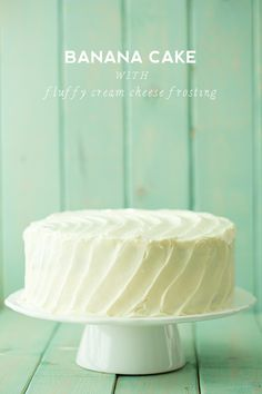 Banana cake with fluffy cream cheese frosting #cake #banana #creamcheese