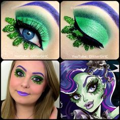 Monster High Amanita Nightshade Makeup. Youtube channel: full.sc/SK3bIA